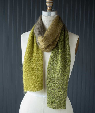 Color Play Scarf Using Shibui Silk Cloud