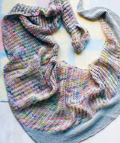 Colorwash Scarf Using Manos Alegria