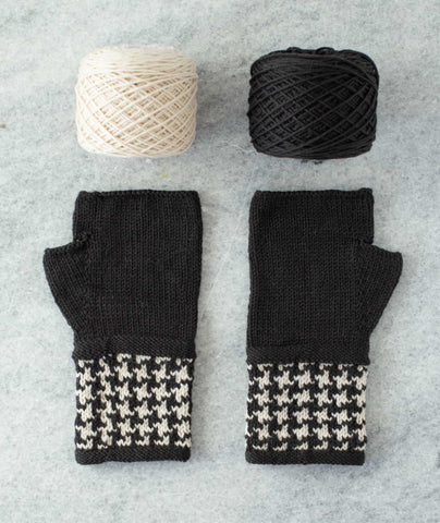 Colorwork Fingerless Gloves Using Brooklyn Tweed Peerie