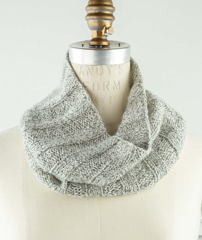 Common Time Cowl Using Shibui Nest & Tweed Silk Cloud