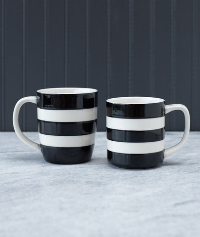 Cornishware Black and Cream Mugs
