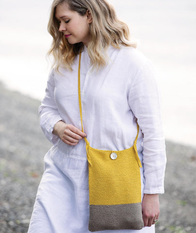 Crocheted Crossbody Bags & Clutch Using Rowan Creative Linen
