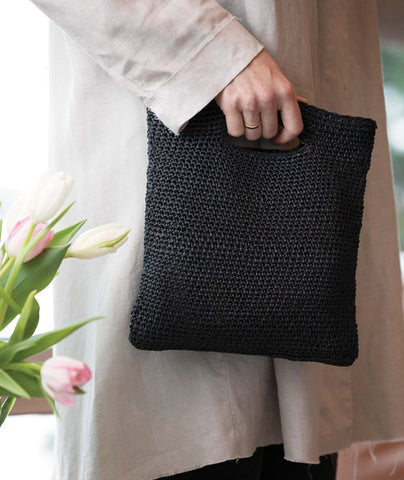 Crocheted Crossbody Bags & Clutch Using Wool and the Gang Ra-Ra Raffia
