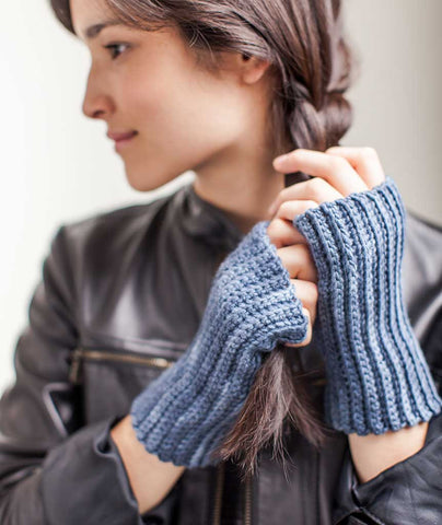 Crocheted Handwarmers: 1 Stitch 3 Ways Using Manos Maxima