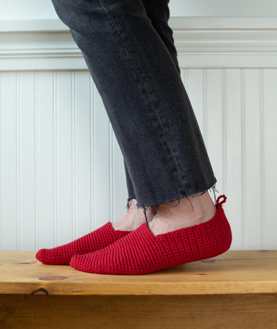 Crocheted Moroccan-Style Slippers Using Rowan Handknit Cotton