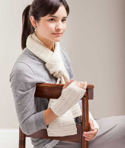 Classroom: Crocheted Sampler Scarf & Handwarmers Pattern