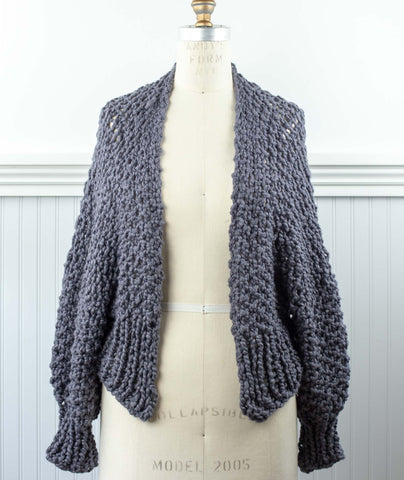 Cropped Cardigan Using Loopy Mango Big Cotton