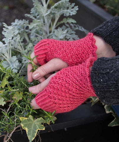 Daisy Stitch Fingerless Gloves