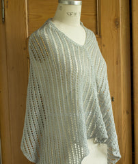 Diagonal Lace Poncho - Louet Euroflax Version