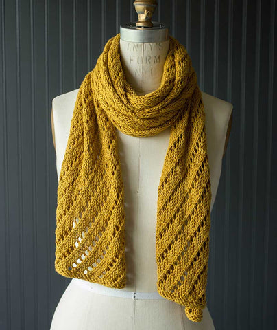 Diagonal Lace Scarf - Modern Cotton Version