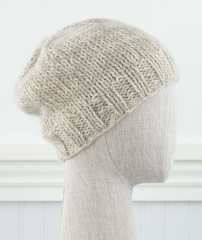 Double-Quick Marled Beanie Using Rowan Kid Classic