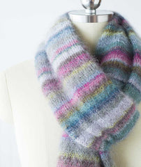 Earth Stripe Wrap Using Rowan Kidsilk Haze