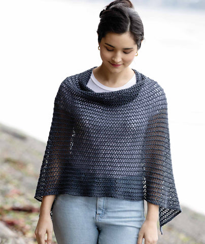 Easy Eyelet Poncho & Wrap Pattern