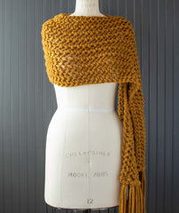 Easy Eyelet Chunky Scarf Using Woolfolk Hygge