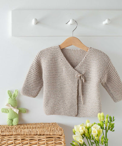 Easy Peasy Baby Jacket Using Big Bad Wool Weepaca