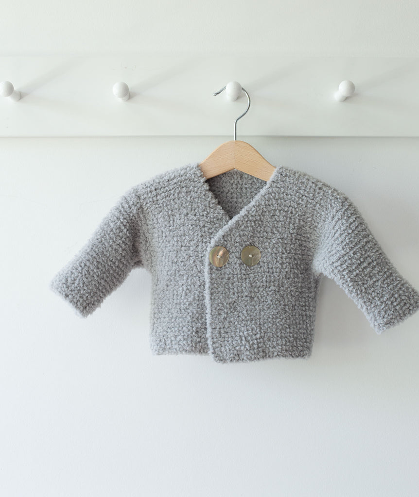 PRINTED INSTRUCTIONS-BABY ARAN SIMPLE GARTER STITCH ALL IN ONE  KNITTING PATTERN