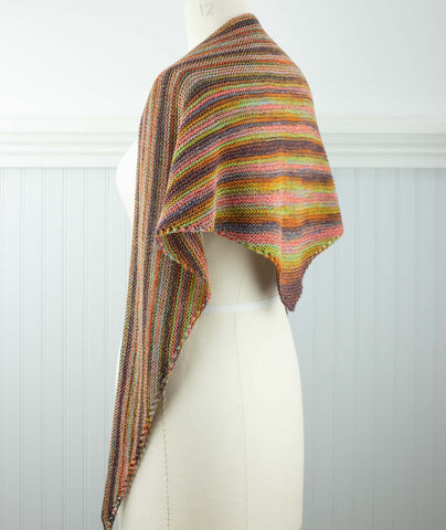 Easy Triangle Scarf Using Berroco Medina
