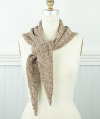 Easy Triangle Scarf Using Isager Palet