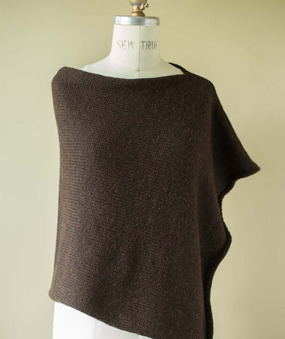 Easy Folded Poncho Using Berroco Ultra Alpaca