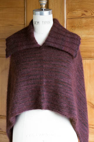 Churchmouse Yarns Amp Teas Easy Folded Poncho V 2 With