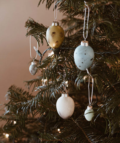 Holiday Egg Ornaments