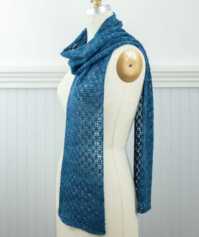 English Mesh Lace Scarf Using Manos Fino