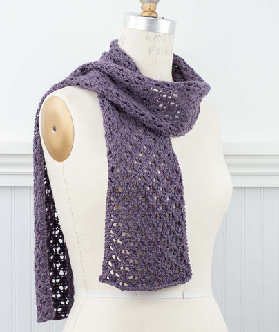 English Mesh Lace Scarf Using Rowan Island Blend Fine