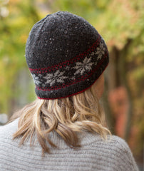 Fairest Isle Beanie Using Rowan Valley Tweed