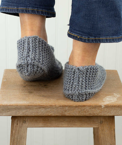 Family Slippers Using Berroco Ultra Wool