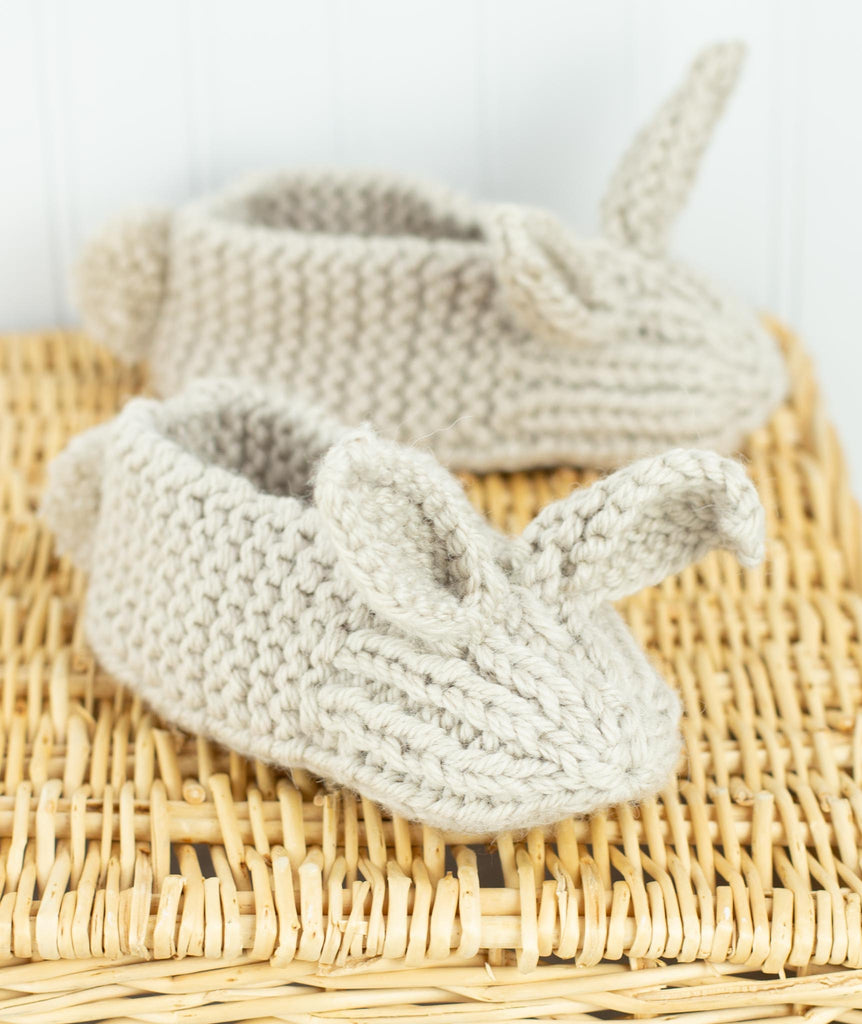 Cuddly Bunnies One Skein Baby Booties