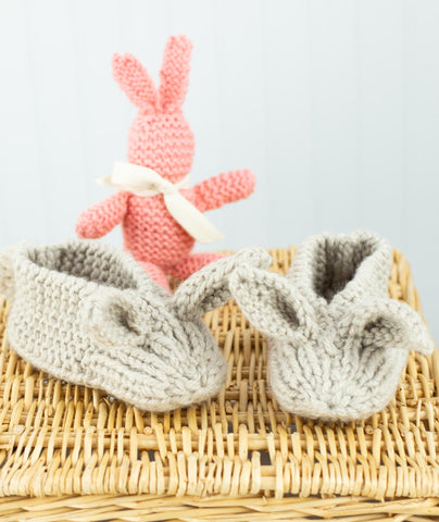 Family Bunny Slippers Using Big Bad Wool Weepaca