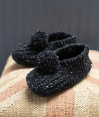 Family Slippers Using Tahki Donegal Tweed