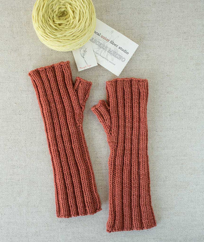 Ferryboat Mitts - Local Color Cascara Merino Version