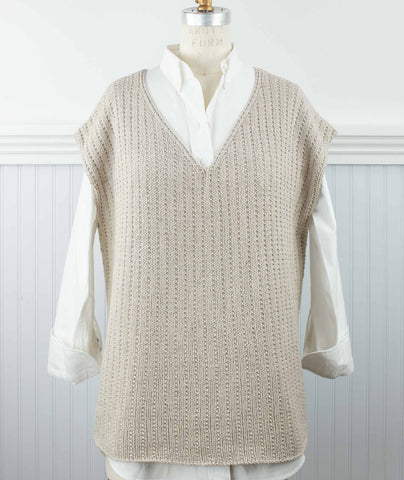 Flat Rib Popover Using Rowan Cotton Cashmere