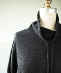 Funnel Neck Pullover Using Isager Bomulin and Alpaca 1