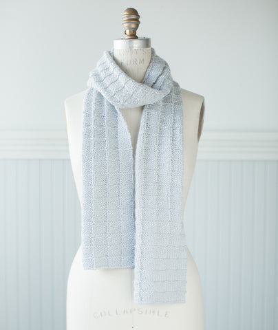 Geometric Scarf Using Blue Sky Fibers Extra