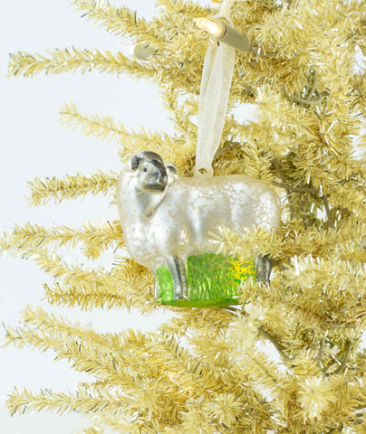 Glass Sheep Ornaments
