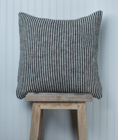 Graphic Striped Pillow Cover Using Berroco Ultra Alpaca Chunky
