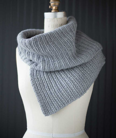 Half & Half Cowl Using Woolfolk Luft