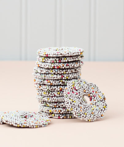Chocolate Rings with Sprinkles