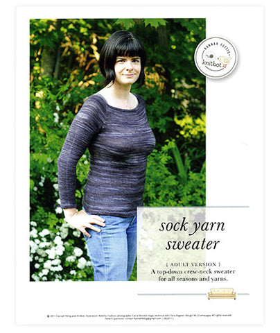 Sock Yarn Sweater (Adult) Pattern