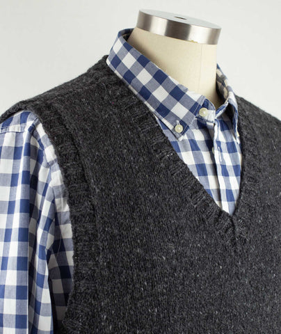 His Vest Using Rowan Cashmere Tweed