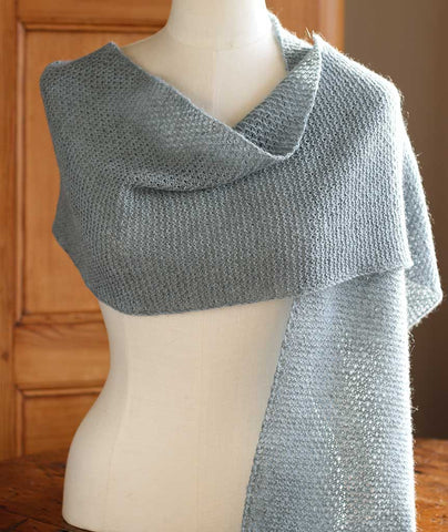 Honeycomb Mesh Scarf Using Isager Alpaca 2