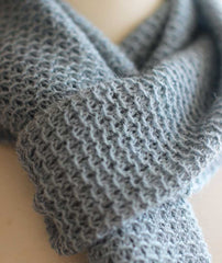 Honeycomb Mesh Scarf Using Isager Alpaca Merino 2