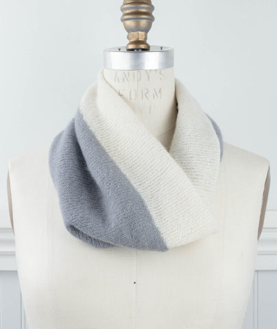 Inside-Outside Cowl Using Rowan Cashmere Haze