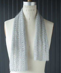 Lacy Ribbed Scarf - Shibui Silk Cloud Version