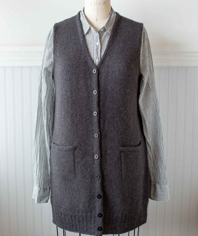 Library Vest Using Rowan Moordale