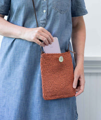 Crocheted Passport Pouch Using Wool and the Gang Ra Ra Raffia