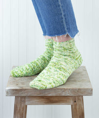Short-Row Touring Sock Using Plucky Knitter Feet