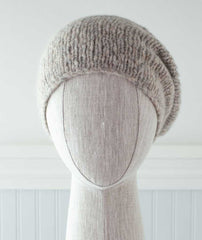 Minimalist Hat Using Rowan Brushed Fleece